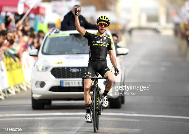 Arrival / Simon Yates of United Kingdom and Team Mitchelton Scott / Celebration / during the 65th Ruta del Sol 2019 Stage 4 a 1199km stage from...