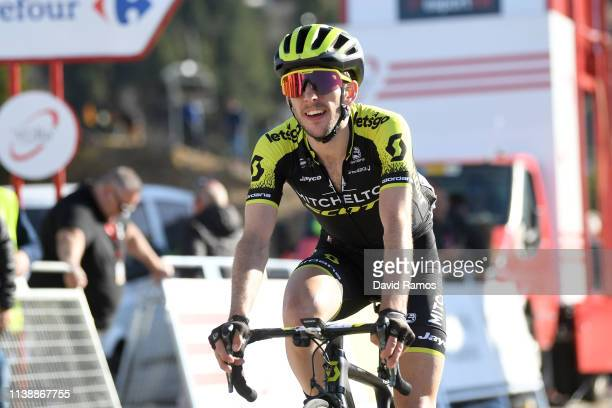 Arrival / Simon Yates of United Kingdom and Team Mitchelton Scott / during the 99th Volta Ciclista a Catalunya 2019 Stage 4 a 1503km stage from...