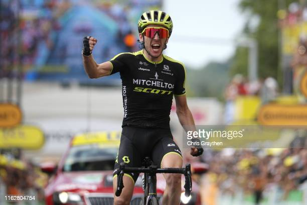 Arrival / Simon Yates of United Kingdom and Team MitcheltonScott / Celebration / during the 106th Tour de France 2019 Stage 12 a 2095km stage from...