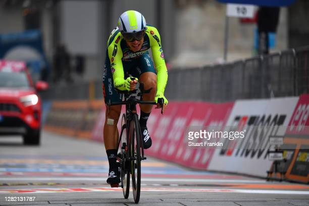 Arrival / Simone Bevilacqua of Italy and Team Vini Zabu KTM / during the 103rd Giro d'Italia 2020, Stage 21 a 15,7km Individual time trial from...