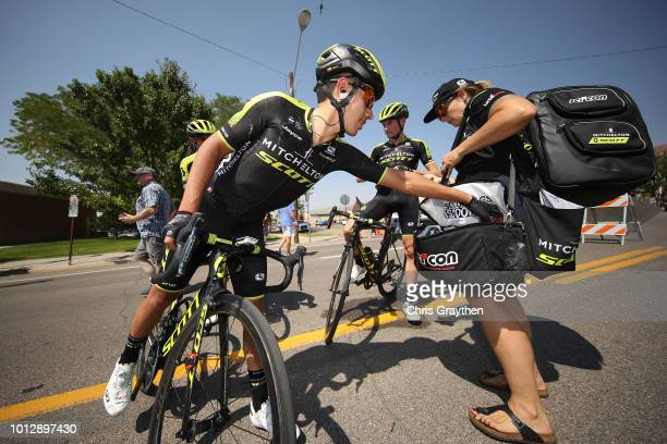 Arrival / Soigneur / Feed Zone / Brayan Chaves Rubio of Colombia and Team Mitchelton - Scott / during the 14th Larry H. Miller Tour of Utah, Stage 1...