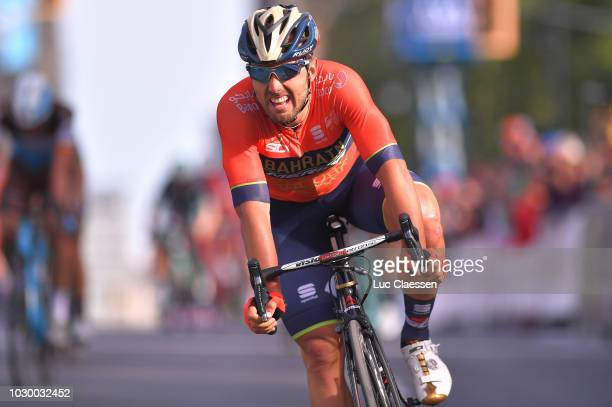 Arrival / Sonny Colbrelli of Italy and Bahrain Merida Pro Cycling Team /during the 9th Grand Prix Cycliste de Montreal 2018 a 1952km race from...