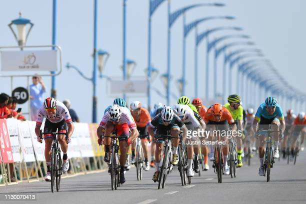 Arrival / Sprint / Alexander Kristoff of Norway and UAE - Team Emirates / Nacer Bouhanni of France and Team Cofidis / Bryan Coquard of France and...