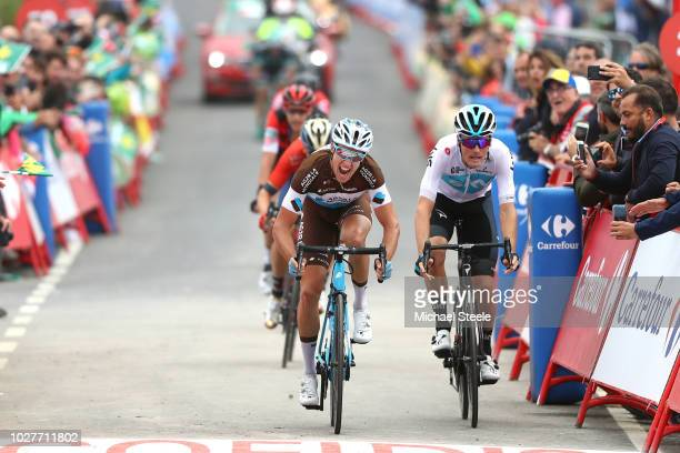Arrival / Sprint / Alexandre Geniez of France and Team AG2R La Mondiale / Dylan Van Baarle of The Netherlands and Team Sky / during the 73rd Tour of...
