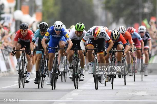 Arrival / Sprint / Alvaro Jose Hodeg of Colombia and Team Quick-Step Floors / Pascal Ackermann of Germany and Team Bora Hansgrohe / Niccolo Bonifazio...