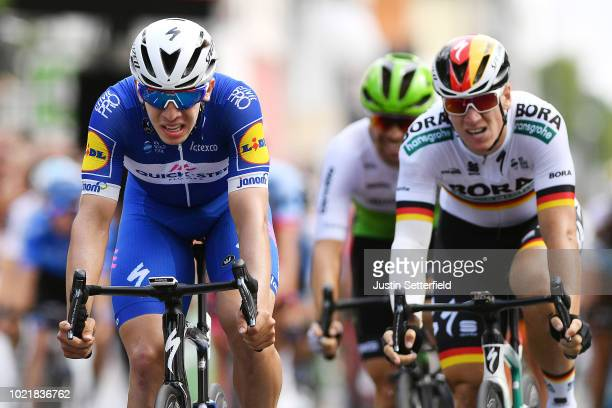 Arrival / Sprint / Alvaro Jose Hodeg of Colombia and Team Quick-Step Floors / Pascal Ackermann of Germany and Team Bora Hansgrohe / during the 33rd...
