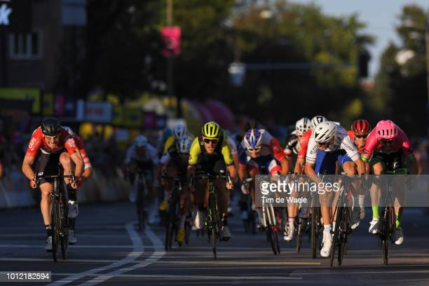 Arrival / Sprint / André Greipel of Germany and Team Lotto - Soudal / Matteo Trentin of Italy and Team Mitchelton - Scott / Alvaro Jose Hodeg Chagui...