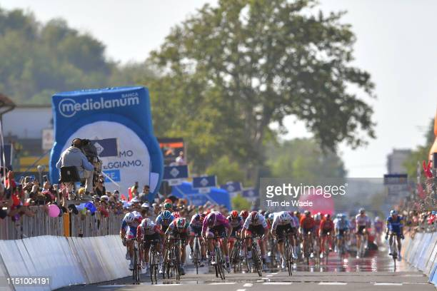 Arrival / Sprint / Caleb Ewan of Australia and Team Lotto Soudal / Arnaud Demare of France and Team Groupama - FDJ / Pascal Ackermann of Germany and...