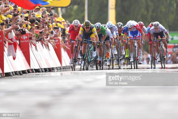 Arrival / Sprint / Christophe Laporte of France and Team Cofidis / Dylan Groenewegen of The Netherlands and Team LottoNL - Jumbo / Fernando Gaviria...