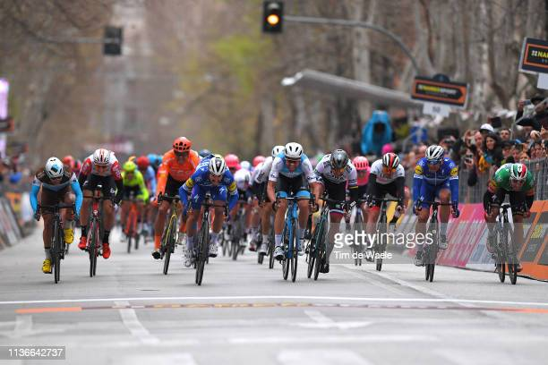 Arrival / Sprint / Clement Venturini of France and Team AG2R La Mondiale / Jens Keukeleire of Belgium and Team Lotto Soudal / Greg Van Avermaet of...