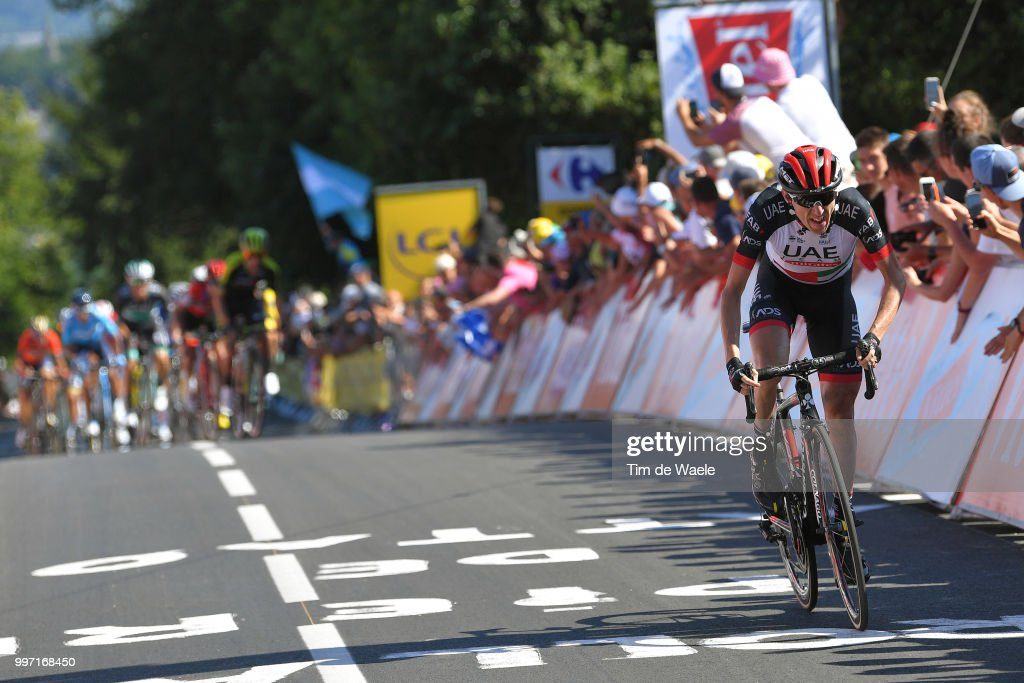 Arrival / Sprint / Daniel Martin of Ireland and UAE Team Emirates / Celebration / during 105th Tour de France 2018, Stage 6 a 181km stage from Brest to Mur-de-Bretagne Guerledan 293m / TDF / on July 12, 2018 in Mur-de-Bretagne Guerledan, France.