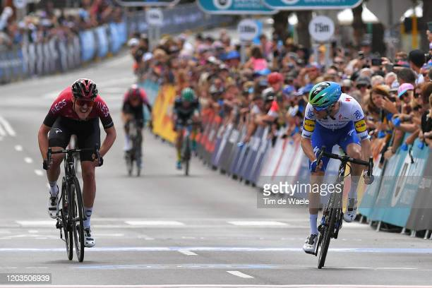Arrival / Sprint / Dries Devenyns of Belgium and Team Deceuninck - Quick-Step / Pavel Sivakov of France and Team INEOS / during the 6th Cadel Evans...