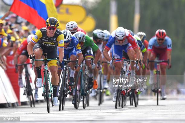 Arrival / Sprint / Dylan Groenewegen of The Netherlands and Team LottoNL - Jumbo / Fernando Gaviria of Colombia and Team Quick-Step Floors / Arnaud...