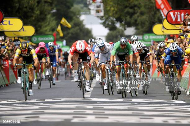 Arrival / Sprint / Dylan Groenewegen of The Netherlands and Team LottoNL - Jumbo / Andre Greipel of Germany and Team Lotto Soudal / Peter Sagan of...