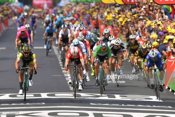 Arrival / Sprint / Dylan Groenewegen of The Netherlands and Team LottoNL - Jumbo / Andre Greipel of Germany and Team Lotto Soudal / Fernando Gaviria...