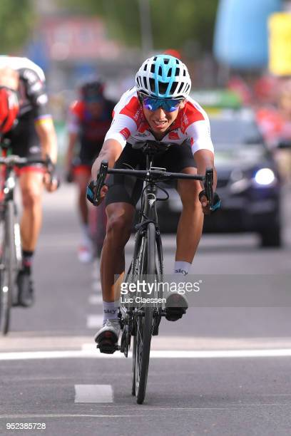 Arrival / Sprint / Egan Arley Bernal Gomez of Colombia and Team Sky White Best Young Rider Jersey / during the 72nd Tour de Romandie 2018 Stage 4 a...