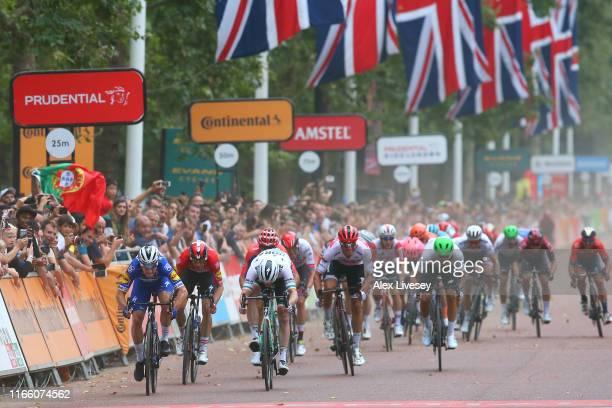 Arrival / Sprint / Elia Viviani of Italy and Team Deceuninck - Quick-Step / Michael Morkov of Denmark and Team Deceuninck - Quick-Step / Amund Jansen...