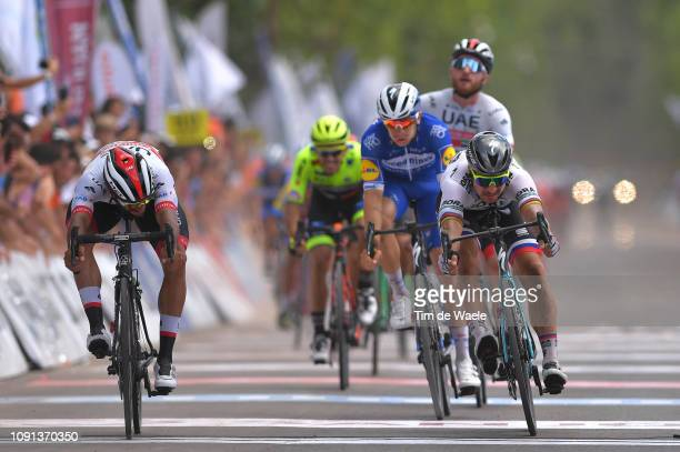 Arrival / Sprint / Fernando Gaviria of Colombia and UAE Team Emirates / Alvaro Hodeg of Colombia and Deceuninck - Quick-Step Team / Peter Sagan of...