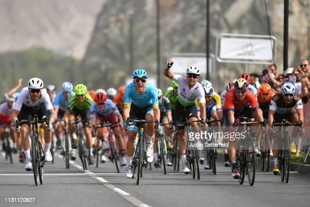 Arrival / Sprint / Giacomo Nizzolo of Italy and Team Dimension Data / Celebration / Sonny Colbrelli of Italy and Team Bahrain Merida / Davide...