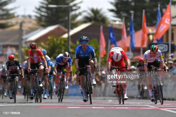 Arrival / Sprint / Giacomo Nizzolo of Italy and Team NTT Pro Cycling / Celebration / Simone Consonni of Italy Team Cofidis Solutions Credits / Sam...