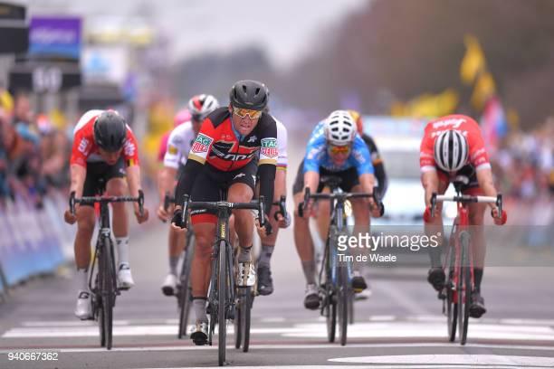 Arrival / Sprint / Greg Van Avermaet of Belgium and BMC Racing Team / Tiesj Benoot of Belgium and Team Lotto Soudal / Jasper Stuyven of Belgium and...