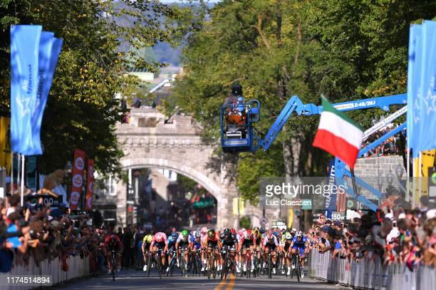 Arrival / Sprint / Greg Van Avermaet of Belgium and CCC Team / Michael Matthews of Australia and Team Sunweb / Peter Sagan of Slovakia and Team Bora...