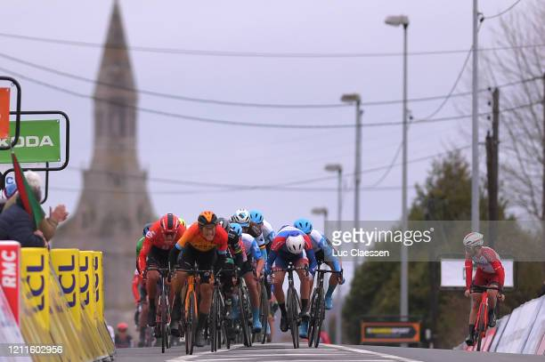Arrival / Sprint / Ivan Garcia Cortina of Spain and Team Bahrain Mclaren / Peter Sagan of Slovakia and Team Bora Hansgrohe / Cees Bol of The...