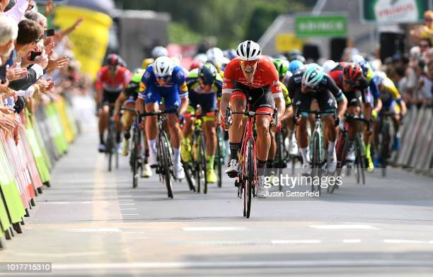 Arrival / Sprint / Jasper Stuyven of Belgium and Team Trek-Segafredo during the 14th BinckBank Tour 2018, Stage 4 a 166,3km from Blankenberge to...