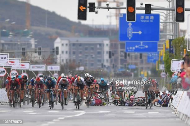 Arrival / Sprint / Jenthe Biermans of Belgium and Team Katusha-Alpecin / Alex Dowsett of Great Britain and Team Katusha-Alpecin / Gianni Moscon of...