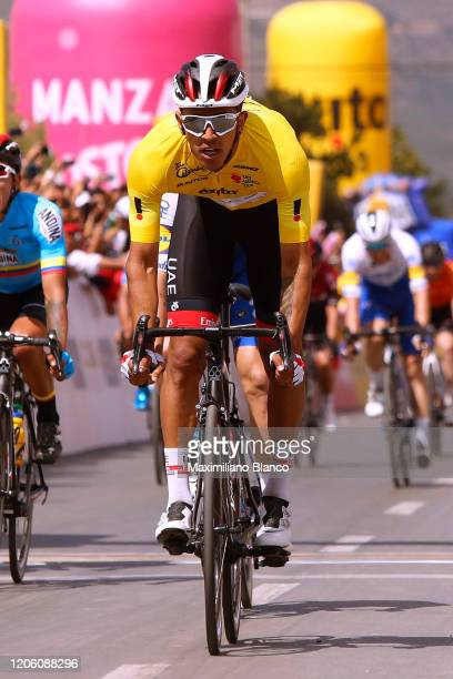 Arrival / Sprint / Juan Sebastian Molano Benavides of Colombia and UAE Team Emirates Yellow Points Jersey / Edwin Alcibiad Avila of of Colombia and...