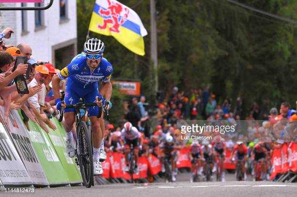 Arrival / Sprint / Julian Alaphilippe of France and Team Deceuninck - Quick-Step / Jakob Fuglsang of Denmark and Astana Pro Team / during the 83rd La...