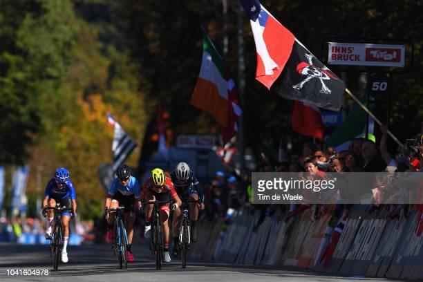 Arrival / Sprint / Laura Stigger of Austria / Marie Le Net of France / Simone Boilard of Canada / Barbara Malcotti of Italy / during the Women...