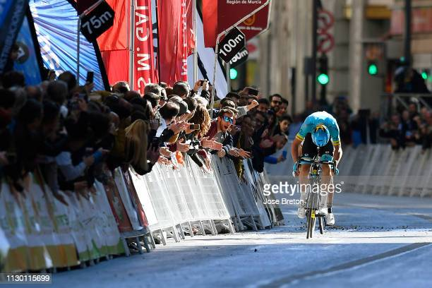Arrival / Sprint / Luis Leon Sanchez of Spain and Astana Pro Team / Fans / Public / during the 39th Vuelta a Murcia 2019, Stage 2 a 177,3km stage...