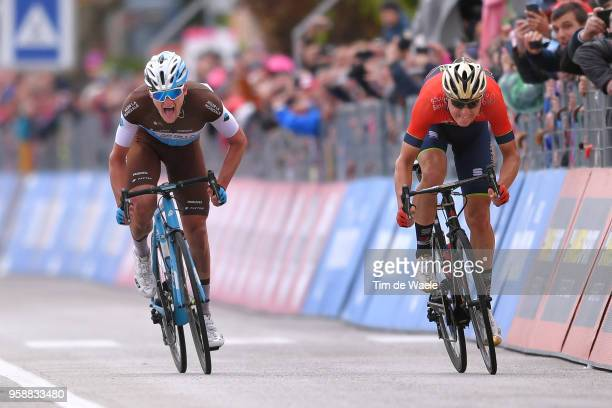 Arrival / Sprint / Matej Mohoric of Slovenia and Team Bahrain-Merida / Nico Denz of Germany and Team AG2R La Mondiale / during the 101st Tour of...