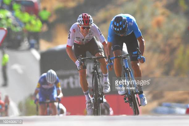 Arrival / Sprint / Michal Kwiatkowski of Poland and Team Sky / Alejandro Valverde of Spain and Movistar Team / during the 73rd Tour of Spain 2018,...