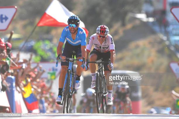 Arrival / Sprint / Michal Kwiatkowski of Poland and Team Sky / Alejandro Valverde of Spain and Movistar Team / during the 73rd Tour of Spain 2018...