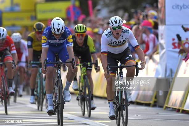 Arrival / Sprint / Pascal Ackermann of Germany and Team Bora-Hansgrohe Celebration / Alvaro Jose Hodeg Chagui of Colombia and Team Quick-Step Floors...