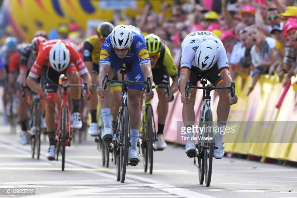 Arrival / Sprint / Pascal Ackermann of Germany and Team Bora-Hansgrohe / Alvaro Jose Hodeg Chagui of Colombia and Team Quick-Step Floors / Matteo...