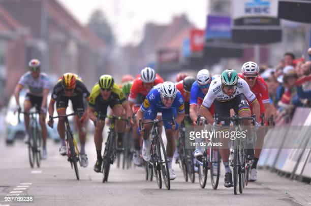 Arrival / Sprint / Peter Sagan of Slovakia and Team Bora Hansgrohe / Elia Viviani of Italy and Team QuickStep Floors / Arnaud Demare of France and...