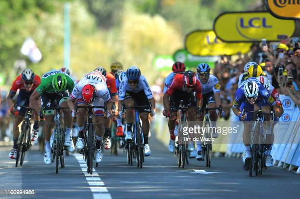 Arrival / Sprint / Peter Sagan of Slovakia and Team BoraHansgrohe Green Sprint Jersey / Alexander Kristoff of Norway and UAE Team Emirates / Matteo...