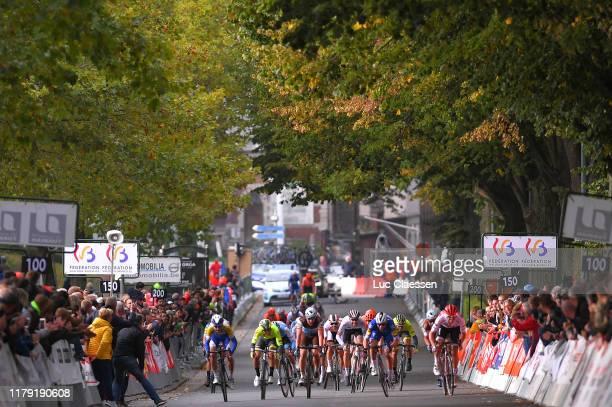 Arrival / Sprint / Piet Allegaert of Belgium and Team Sport Vlaanderen - Baloise / Florian Sénéchal of France and Team Deceuninck - Quick Step /...