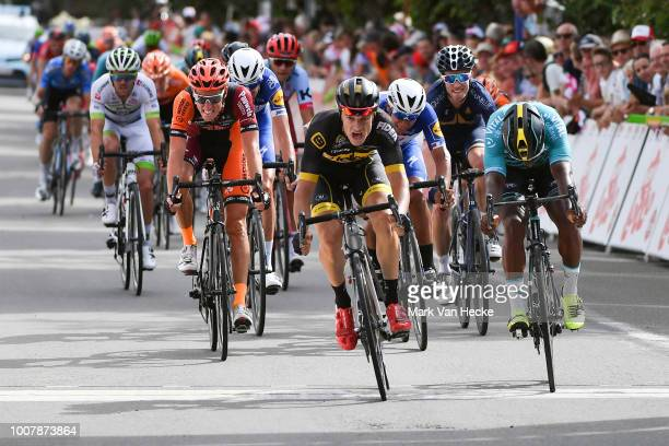 Arrival / Sprint / Quinten Hermans of Belgium and Team Telenet Fidea Lions / Lorrenzo Manzin of France and Team Vital Concept Cycling Club / Jens...