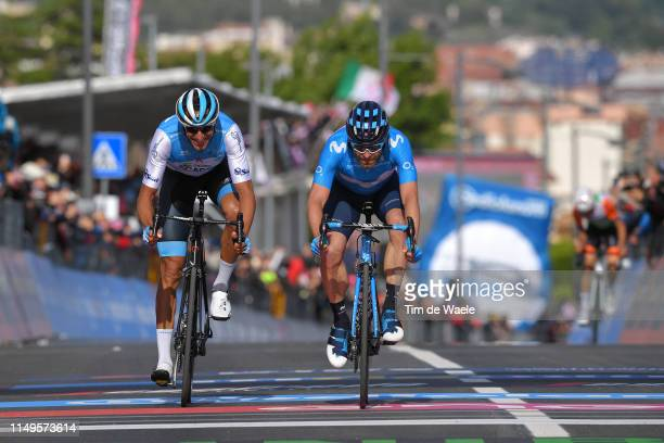 Arrival / Sprint / Ruben Plaza of Spain and Team Israel Cycling Academy / Jose Joaquin Rojas Gil of Spain and Movistar Team / during the 102nd Giro...