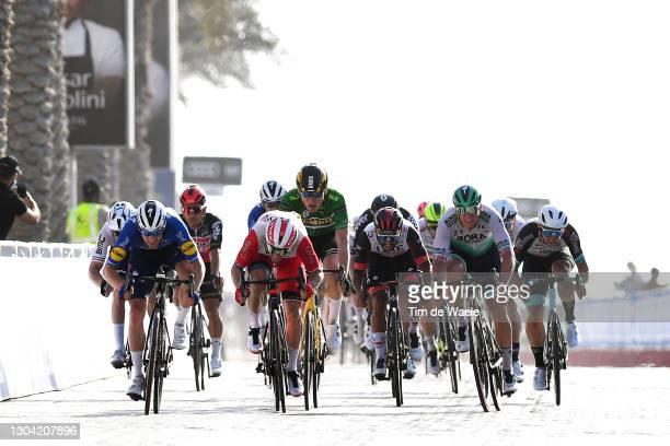 Arrival / Sprint / Sam Bennett of Ireland and Team Deceuninck - Quick-Step, Elia Viviani of Italy and Team Cofidis, David Dekker of The Netherlands...