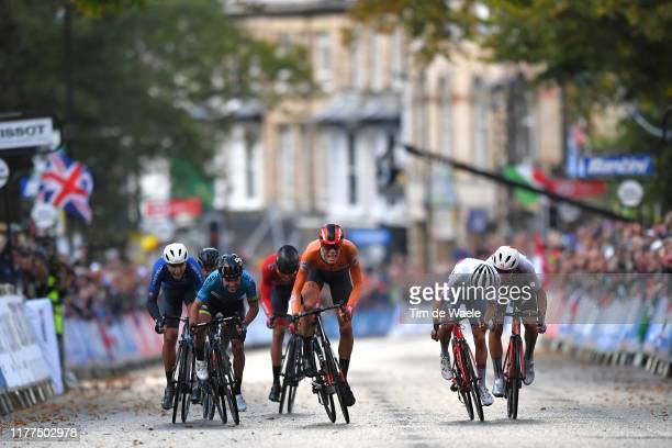 Arrival / Sprint / Samuele Battistella of Italy / Sergio Andres Higuita Garcia of Colombia / Andreas Lorentz Kron of Denmark / Nils Eekhoff of The...