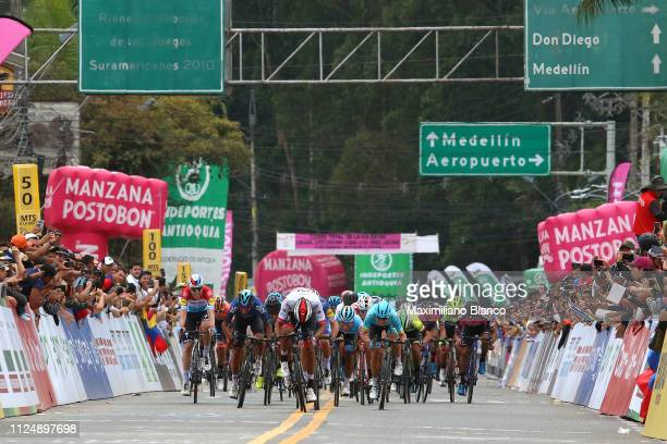 Arrival / Sprint / Sebastián Molano of Colombia and Uae Team Emirates / Julian Alaphilippe of France and DeceuninckQuickstep Team / Bob Jungels of...