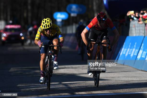 Arrival / Sprint / Sergio Andres Higuita Garcia of Colombia and Team EF Education - Nippo & Mikel Landa Meana of Spain and Team Bahrain Victorious...