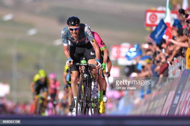Arrival / Sprint / Tim Wellens of Belgium and Team Lotto Soudal / Michael Woods of Canada and Team EF Education First-Drapac p/b Cannondale / during...