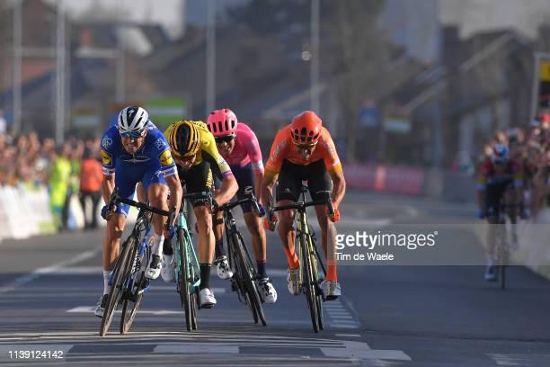 Arrival / Sprint / Zdeněk Štybar of Czech Republic and Team Deceuninck - Quick-Step / Wout Van Aert of Belgium and Team Jumbo - Visma / Alberto...