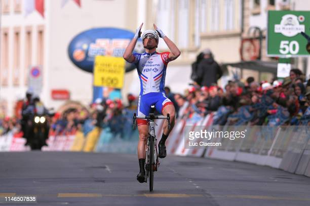 Arrival / Stefan Kung of Switzerland and Team Groupama-FDJ / Celebration / during the 73rd Tour de Romandie 2019, Stage 2 a 174,4km stage from Le...